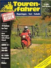 TF8905 + Test BMW K 1 + Test SUZUKI DR-Big 750 S + Tourenfahrer 5/1989
