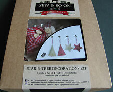 Docrafts kit to make Trees and stars Christmas decorations