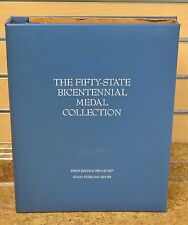 Franklin Mint Sterling Silver Complete Fifty State Bicentennial Medal Collection