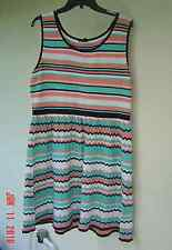 NWT JESSICA SIMPSON PINK  GREEN WHITE KNIT DRESS SIZE 2 X $89