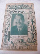 Partition Ya d'la joie Maurice Chevalier Charles Trénet