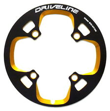 gobike88 Driveline Chainring Guard 44T, BCD 104mm, 75g, Black/Gold, S23