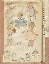 Vintage 1930's McCall 7678 Baby Dress, Slip, One'sy & Yoked Panties Pattern_6mos