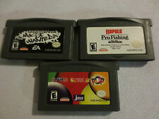Lot 3 Game Boy Advance Games Need Speed Most Wanted,Super Bubble Pop,Rapala Fish