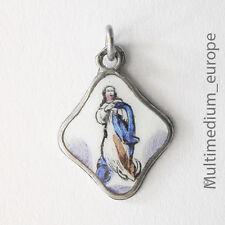 Jugendstil Silber Anhänger Hl. Mutter Maria Emaille silver pendant enamel