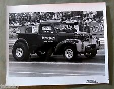 Vintage RACE CAR PHOTO DAVE MILLS TRUCK INTERSTATE RICH CARLSON PHOTOGRAPHY USA
