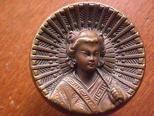 """Antique Cast Bronze """"Geisha"""" Entry Door Knob Door Knob c1879 - Russell & Erwin"""