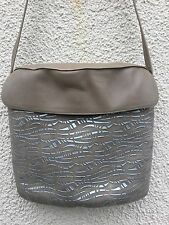 VINTAGE 70's CHARLES JOURDAN SEDUCTA  DECO LEATHER HAND BAG STYLISH DESIGNER