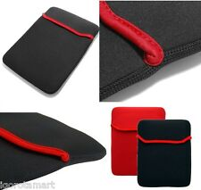 "Black Red  Soft Sleeve Cover Case Pouch Bag For 7 7"" 7.8 Inch Tablet Pad"