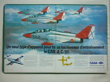 6/1983 PUB AVION CASA C-101 TRAINER SPANISH AIRCRAFT ORIGINAL FRENCH AD