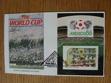 07/05/1986 World Cup Postal Cover: CC 1053 - Argentina Crowd Scene - Stamp: Mexi