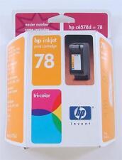 GENUINE HP OEM 78 INK CARTRIDGE NEW SEALED TRI-COLOR INKJET C6578DN