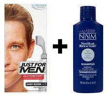 Just For Men autostop da UOMO Tinta per capelli colorazione SANDY Blonde + Nisim Shampoo 60ml