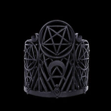 RESTYLE WICKED CUFF BRACELET. MATTE BLACK PENTAGRAM & CRESCENTS. NU-GOTH.