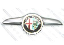 ALFA ROMEO GT Blackline & svincolo a quadrifoglio nuovo ANTERIORE COFANO emblema SATIN griglia Badge