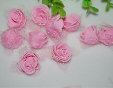 76pcs MIXED ROSE MULBERRY PAPER FLOWER ARTIFICIAL CRAFT SCRAPBOOK WEDDING pink