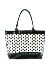 Women Transparent Clear Beach Casual Shoulder Bag-BK Dot