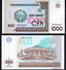 Uzbekistan 1000 Som Pick 82 2001 Mint Unc