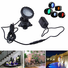 RGB Multicolor 36 LED Spot Light Underwater Lamp For Fish Tank Pond Rockery 230V