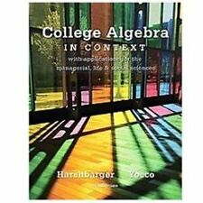 College Algebra in Context plus MyMathLab Student Access Kit by Harshbarger, Ro