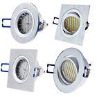 Alu Einbaustrahler rund eckig GU10 Einbau-leuchte Quadrat Aluminium OH2x