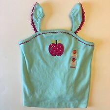 NWT GYMBOREE GIRLS 18-24 MONTHS BLUE APPLE TANK TOP CANDY APPLE LINE