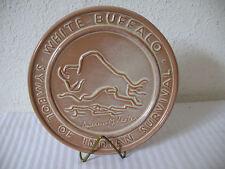Frankoma Pottery White Buffalo Trivet Andrew M Lester Desert Gold w Stand