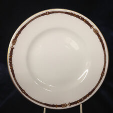 "RALPH LAUREN CHINA WEDGWOOD EQUESTRIAN SALAD PLATE 8 1/8"" YELLOW & BROWN BELT"
