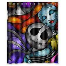 Custom Jack Skellington The Nightmare Before Christmas Shower Curtain 60x72 inch