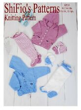 KNITTING PATTERN for BABY HOODED OWL JACKET, LEGGINGS & MITTS 2 SIZES #243