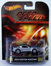 "Hot Wheels ""NEED FOR SPEED"" 2014 Ford Mustang Silver Retro Entertainment Series"