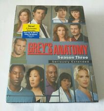 "Grey's Anatomy - The Complete Third Season (DVD, 2007, 7-Disc Set) ""NEW"""
