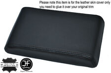 BLACK STITCHING ARMREST LID LEATHER COVER FITS HOLDEN COMMODORE VL