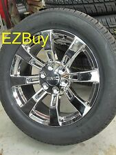 "20"" GMC CHEVROLET ESCALADE FACTORY CHROME WHEELS NEXEN TIRES 5409 NEW SET"