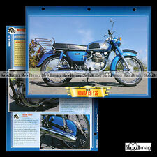 #030.05 Fiche Moto HONDA CD 175 K3 1970 Motorcycle Card