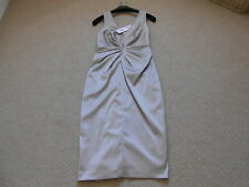 Ladies Phase Eight Cappuccino Duet Satin Ruched Detail Dress-Size 10-Brand new