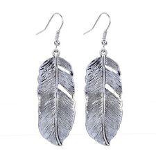 Delicate Tibetan Silver Hollow Out Leaf Shape Women Dangle Hook Earrings Jewelry