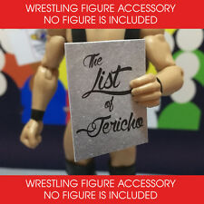 WWE ELITE BASIC ACCESSORY - THE LIST OF JERICHO ACCESSORY - FIGURE NOT INCLUDED