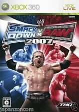 Used Xbox  360 WWE SmackDown vs 2007 MICROSOFT JAPAN JP JAPANESE JAPONAIS IMPORT
