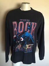 Vintage 1999 WWF The Rock T Shirt, Know Your Role, Men's XL, Brahma Bull, Black