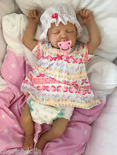 "CHILDRENS REBORN DOLL REAL BABY GIRL JESS REALISTIC 22"" NEWBORN LIFELIKE UK"