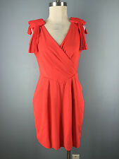 NEW Anthropologie C Luce M L Coral Peach Sheath Cocktail Dress Cut to Perfection