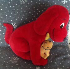 "HUGE CLIFFORD THE BIG RED DOG & CLEO  SOFT PLUSH TOY  17"" TALL"