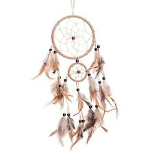"18"" Traditional Beige Dream Catcher with Feathers Wall or Car Hanging Ornamen..."