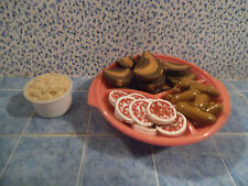 Barbie 1:6 Miniature Dishes Food Party Meat Tray