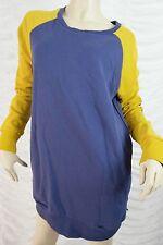 BILLABONG blue yellow cotton surf skate sweater jumper size 10 BNWT