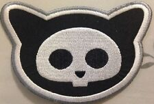 "Skelanimals Patch Kitty Cat Head Iron On Approx 4""x3"""