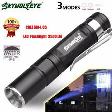 Waterproof 3500LM Pocket LED Flashlight Zoomable AAA  LED Torch Penlight Light