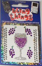 Merlot Wine Crystal Appliqué Cell Phone BLING THING iPhone Sticker iPod Decal