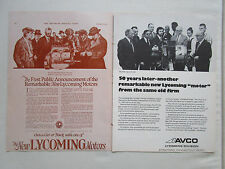 11/1972 PUB AVCO LYCOMING LTS 101 GAS TURBINE HELICOPTER / 1922  ORIGINAL AD